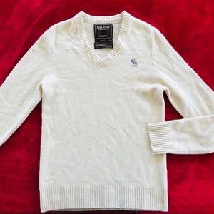 Ezra Fitch Men's Cream Cashmere Sweater